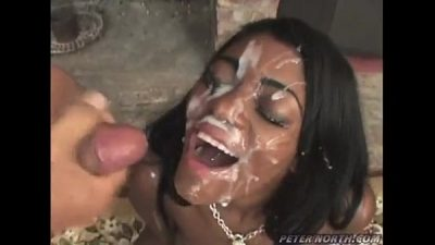 Huge Ebony Cumshot Facial 22 min