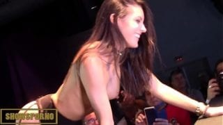 Teen brunette spanish pornstar and guy from the public