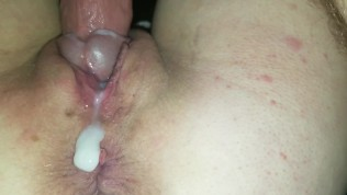 Awesome creampie closeup